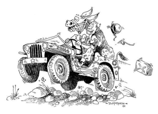 Line Drawing Jeep : Artists drawings ewillys page