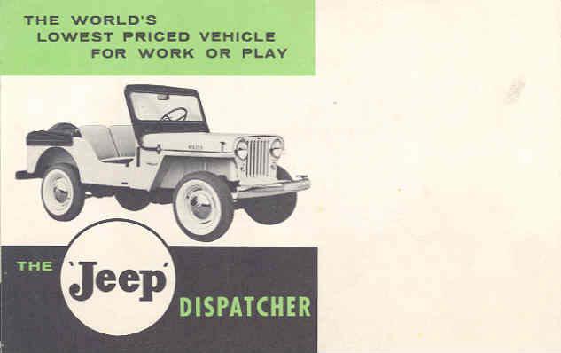 1955 Dj 3a Dispatcher Mailing Brochure Ewillys