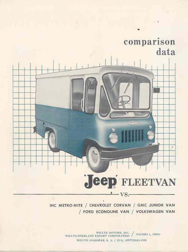 1961 Fleet Van Comparison Brochure eBay | eWillys