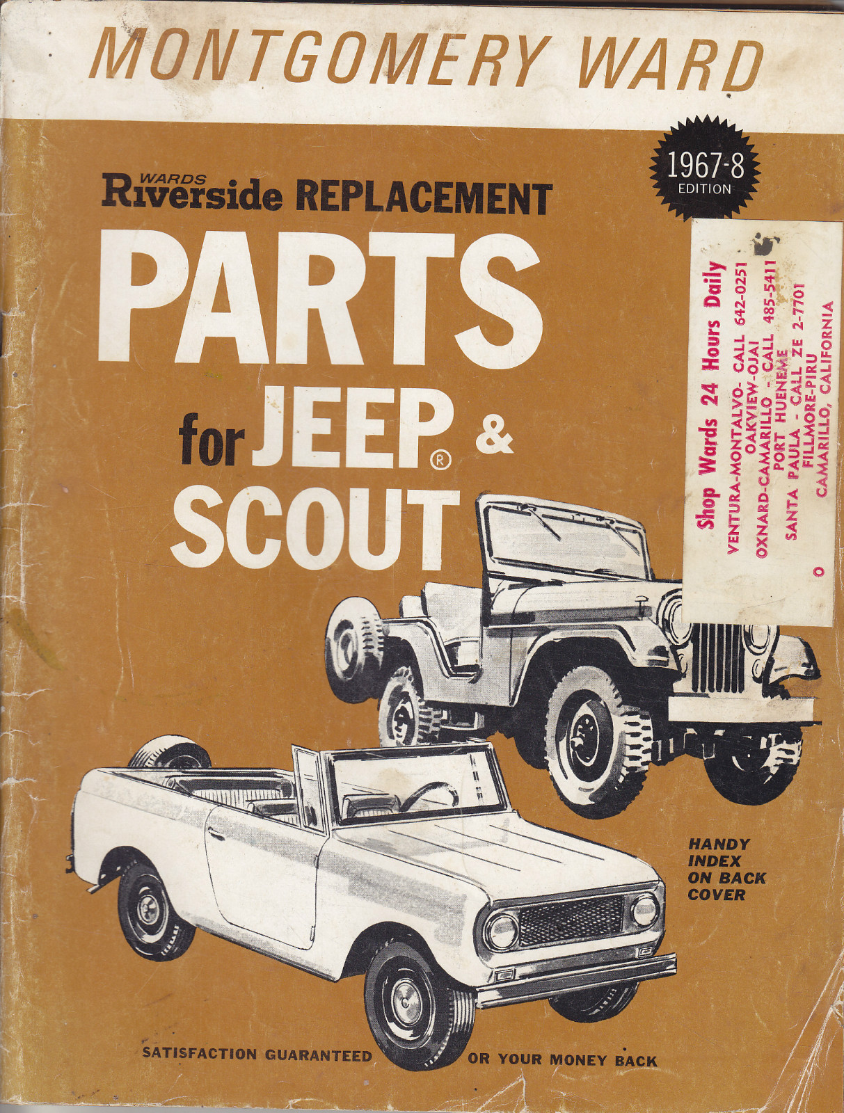 1968 Montgomery Ward Replacement Parts Book on eBay | eWillys