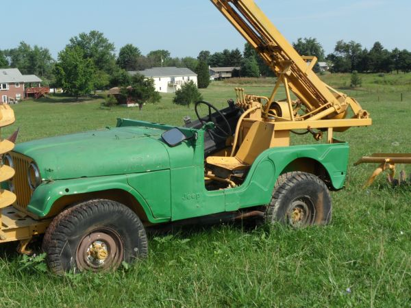 Ford Post Hole Digger Parts : Ford bronco with a post hole digger