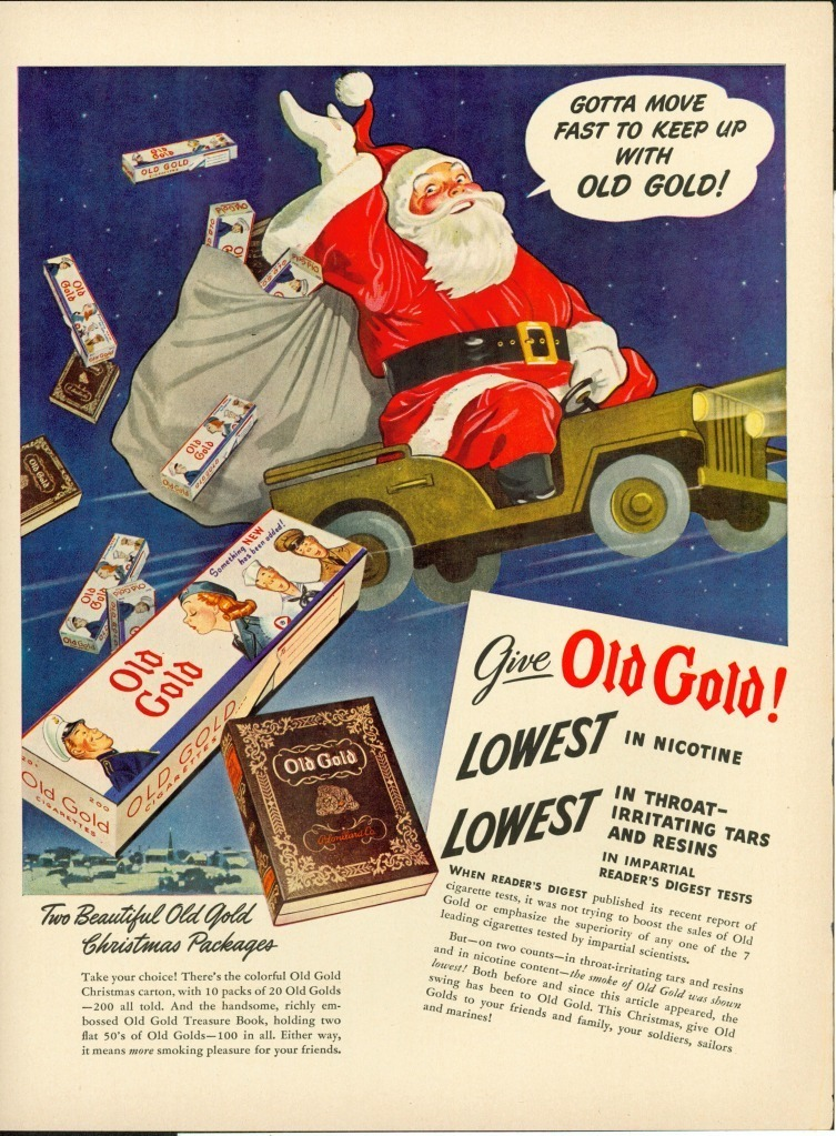 Santa Delivers Old Gold Cigarettes on eBay   eWillys