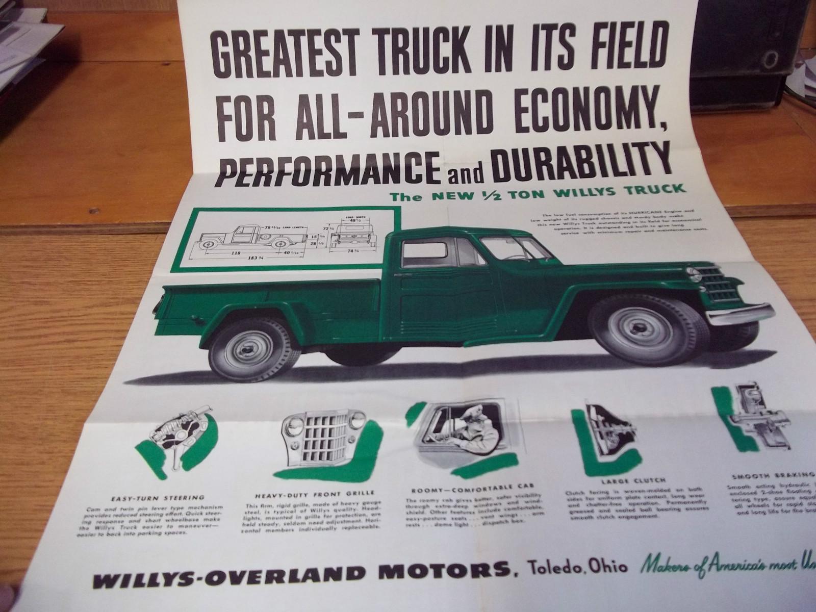 1950s Truck Foldout Brochure on eBay   eWillys