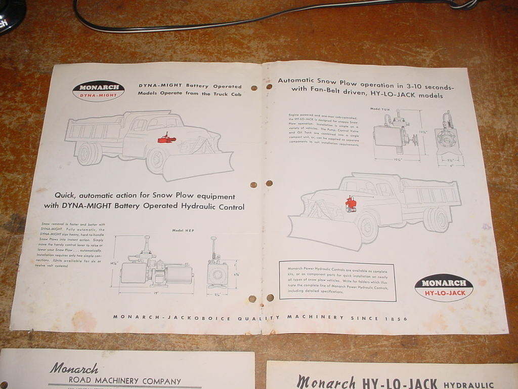1960s monarch hy lo jack hydraulic snowplow brochure3 1960s? monarch hy lo jack hydraulic unit brochure on ebay ewillys dyna jack wiring diagram at bayanpartner.co