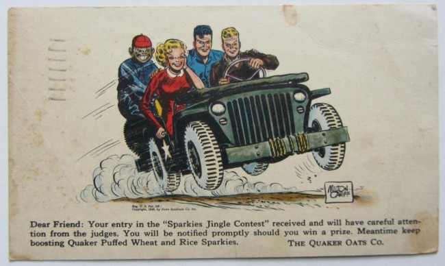 1946-terry-pirates-quaker-oats-contest-card