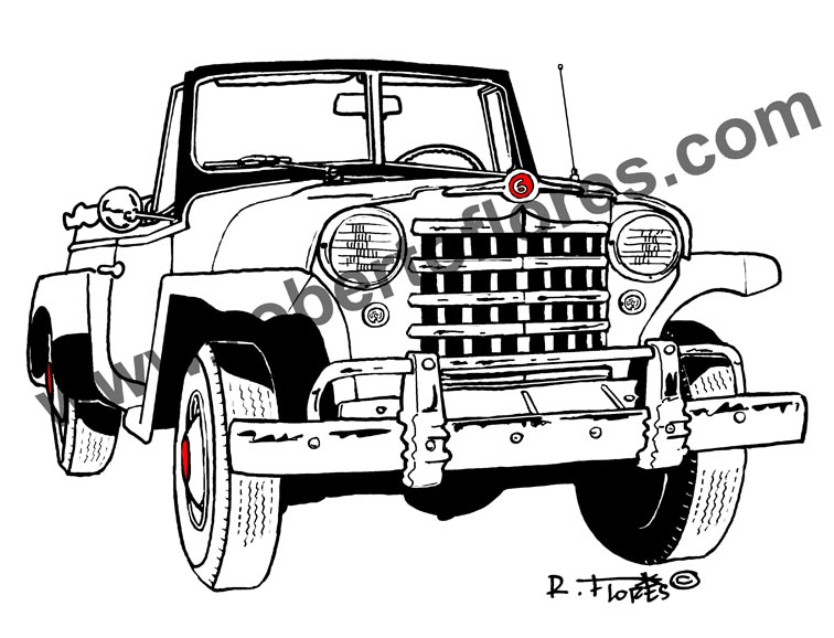 roberto u2019s jeepster illustration