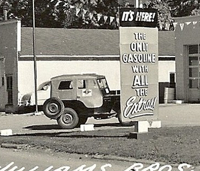 Photo Of Jeep At Gas Station **SOLD**