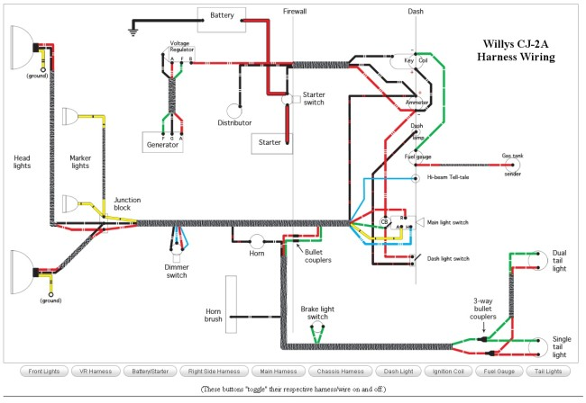 CJ 2A_Wiring 650x448 1980 cj5 wiring schematic for detailed schematics diagram