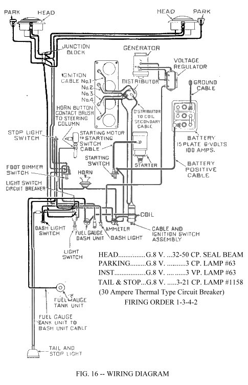wiring schematics ewillys Jeep CJ5 Hard Top
