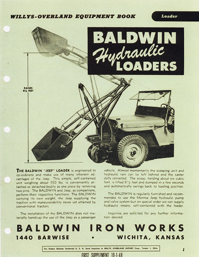 30 Baldwin hydraulic loaders front lores