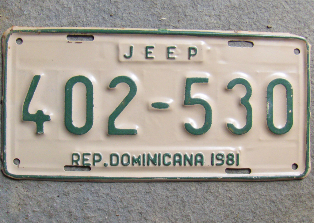 jeep-license-plate-dominican-republic