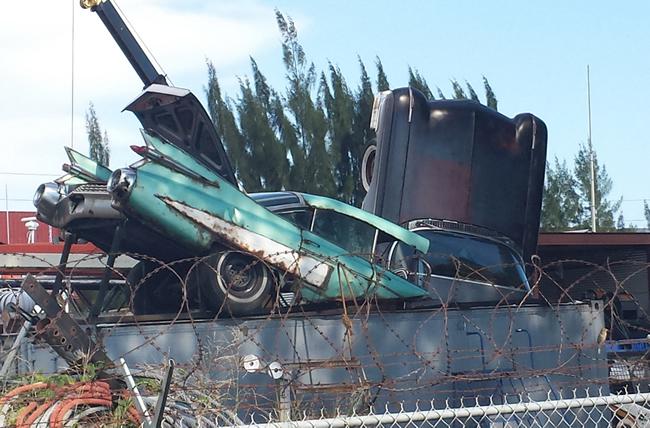 Cadillac Dumpster Miami River 2
