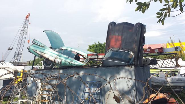 Cadillac Dumpster Miami River 5
