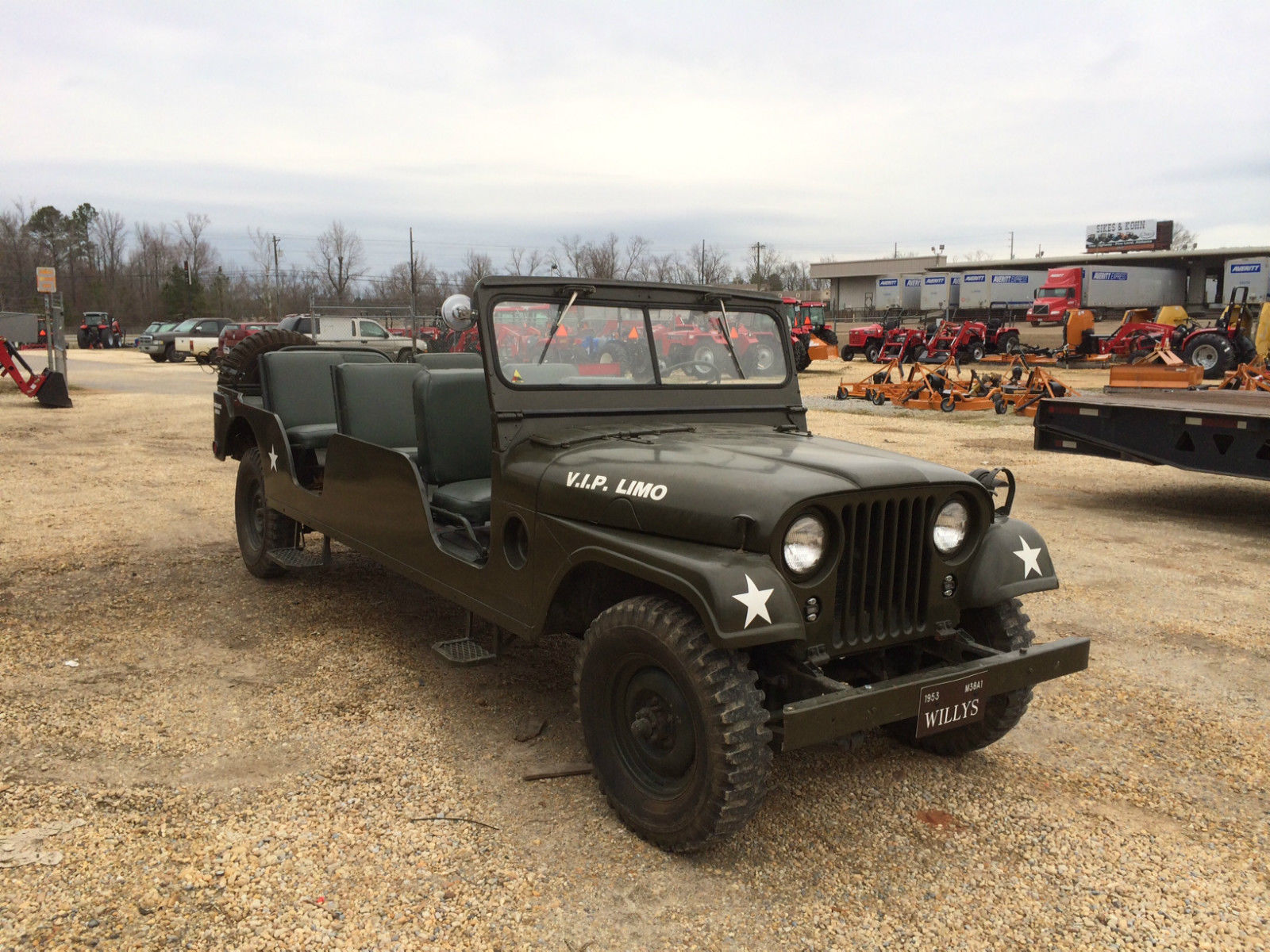 1953 Stretched M 38a1 Limo Sold Ewillys Willys Military Jeep M38a1 Extended 2