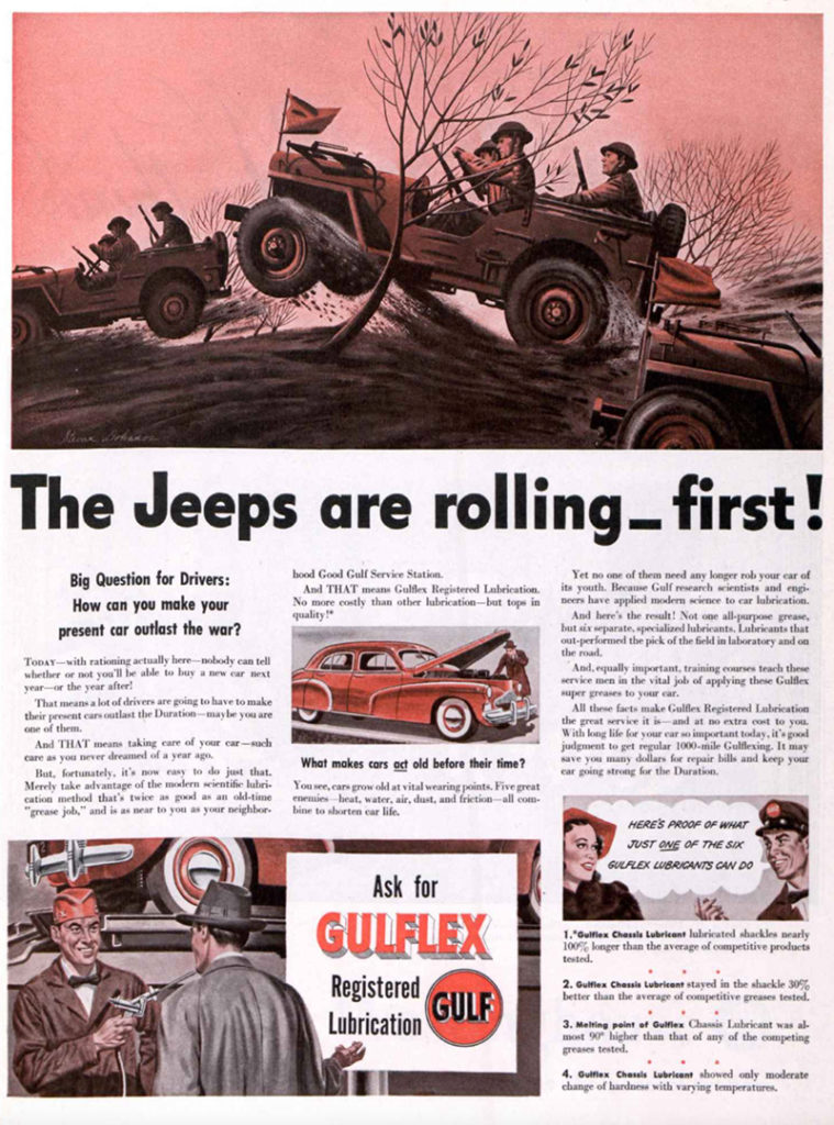 1942-02-07-sat-evening-post-the-jeeps-are-rolling-ad-gulflex-pg31-lores