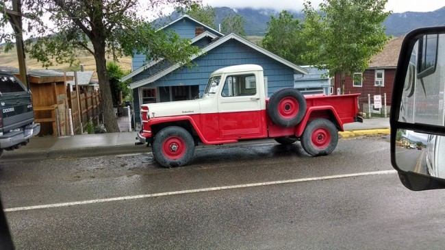 red-truck-wyoming