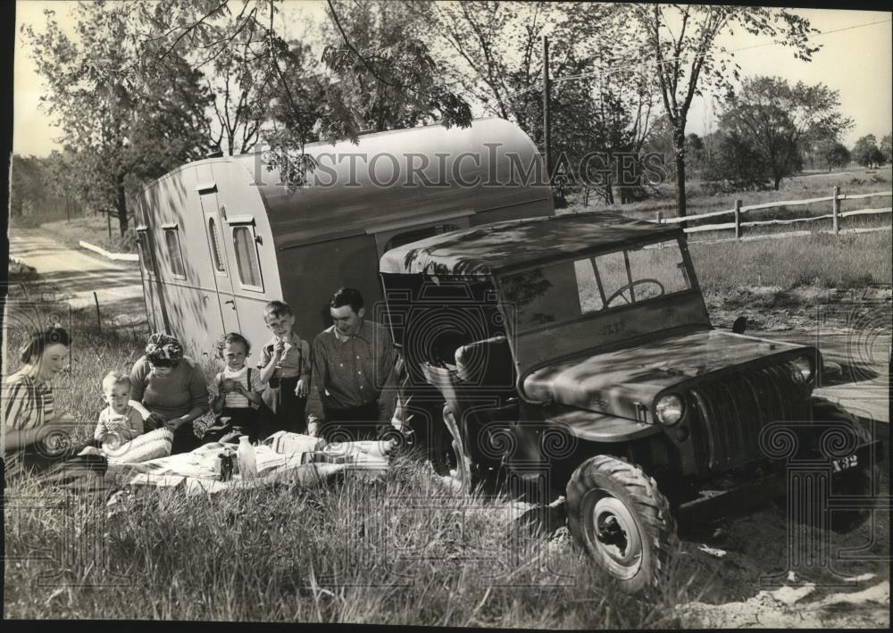 1945 Promotional Photo with CJ-2 X-32 on eBay   eWillys