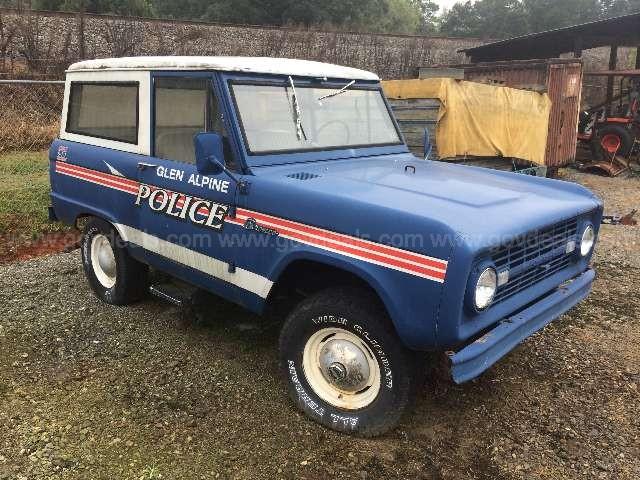 1967 Police Ford Bronco Glen Alpine, NC **SOLD**