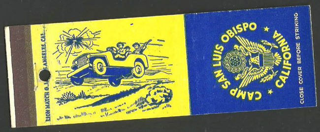 camp-luis-obispo-matchbook