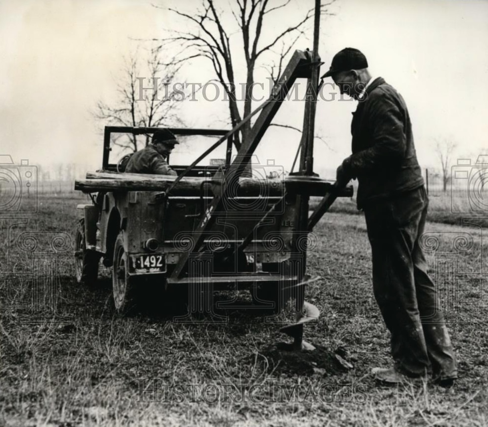 1945 Photo of CJ-2A Posthole Digger Demo **SOLD** | eWillys