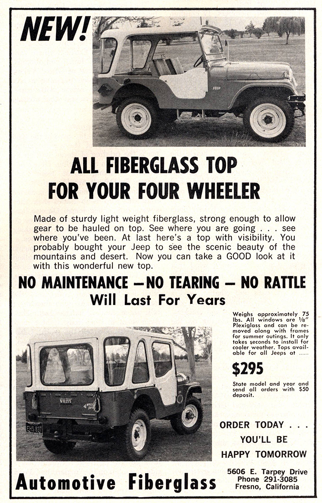 1963-07-fourwheeler-fiberglass-top-ad