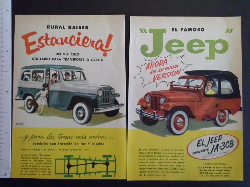 2 Spanish Jeep Ads on eBay   eWillys