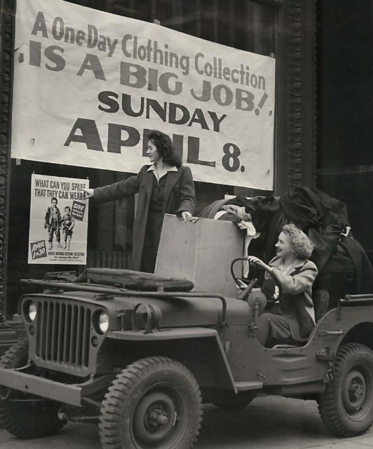 1945-04-13-clothing-drive1