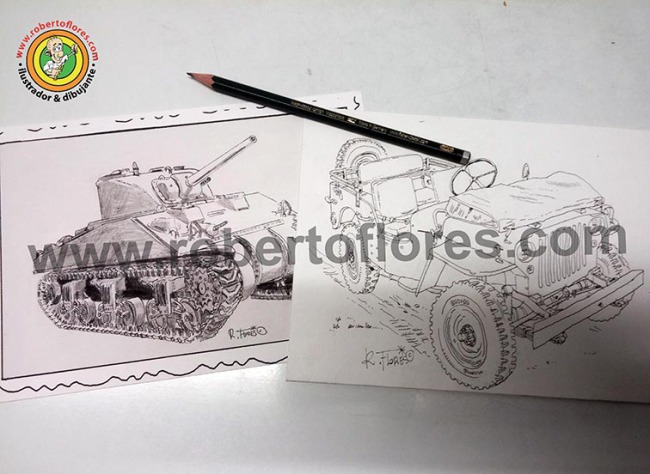 ww2_us_m4_sherman_tank_reproduction_card_willys_mb_jeep_1