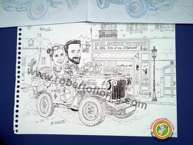 caricatura_cartoon_willys_mb_jeep_carsten_arle_novia_jeep_medico_alemania_fondo_francia_1