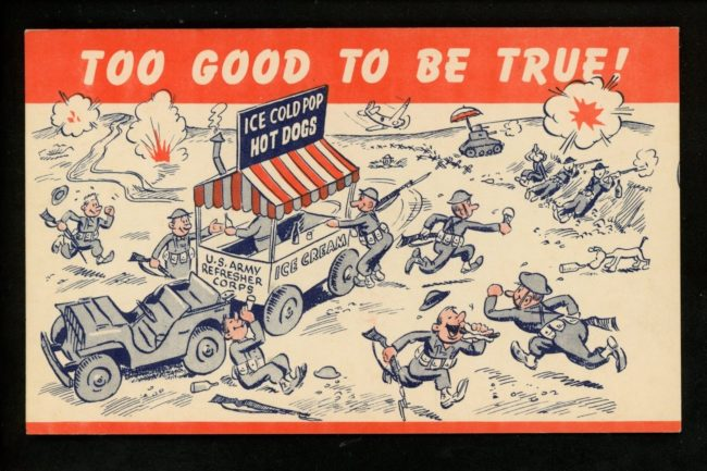 1942-postcard-fordgp-pulling-icecream-cart1