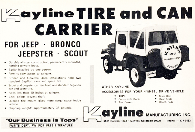 1971-08-fourwheeler-kayline-tire-jerrycan-carrier1