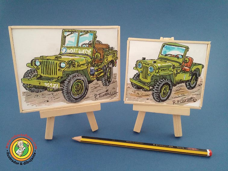 foto_2_mini_cuadros_jeep_willys_MB_dronne_CJ3B