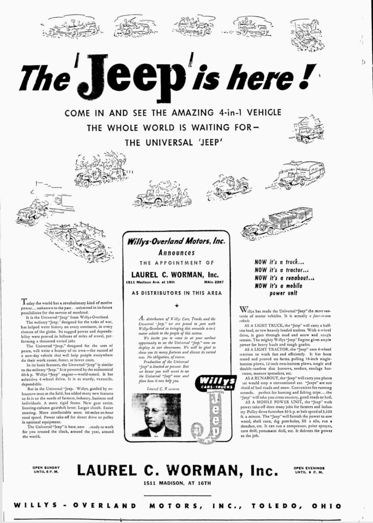 1945-08-22-toledo-blade-worman-announces-jeep
