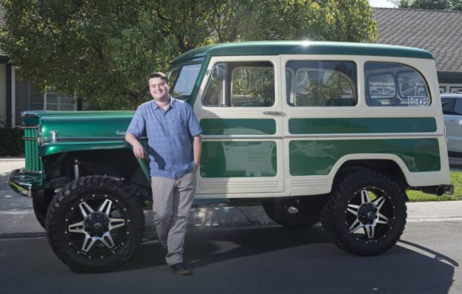 Daniel Friend, who was diagnosed with cystic fibrosis at birth, wished to have his 1956 Willy Jeep cosmetically restored courtesy of Make-A-Wish Foundation. Photographed outside his home in Yorba Linda, Calif. on Tuesday, October 18, 2016. (Photo by Kevin Sullivan, Orange County Register/SCNG)