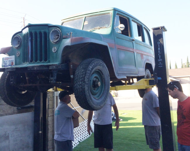 Daniel Friend's 1956 Willy Jeep before being cosmetically restored courtesy of the Make-A-Wish Foundation. (Photo courtesy of Daniel Friend)