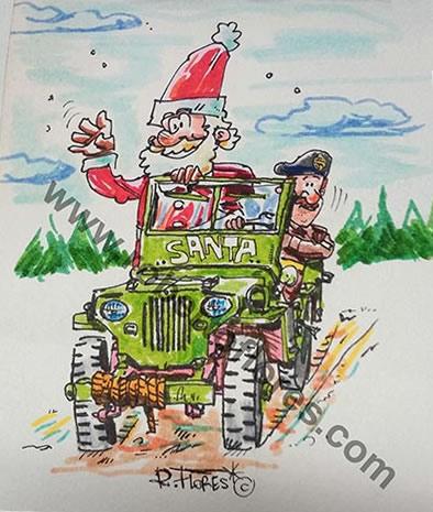 tarjeta_navidad_santa_ww2_willys_jeep_mb_christmas_card_foto_1_marca_agua