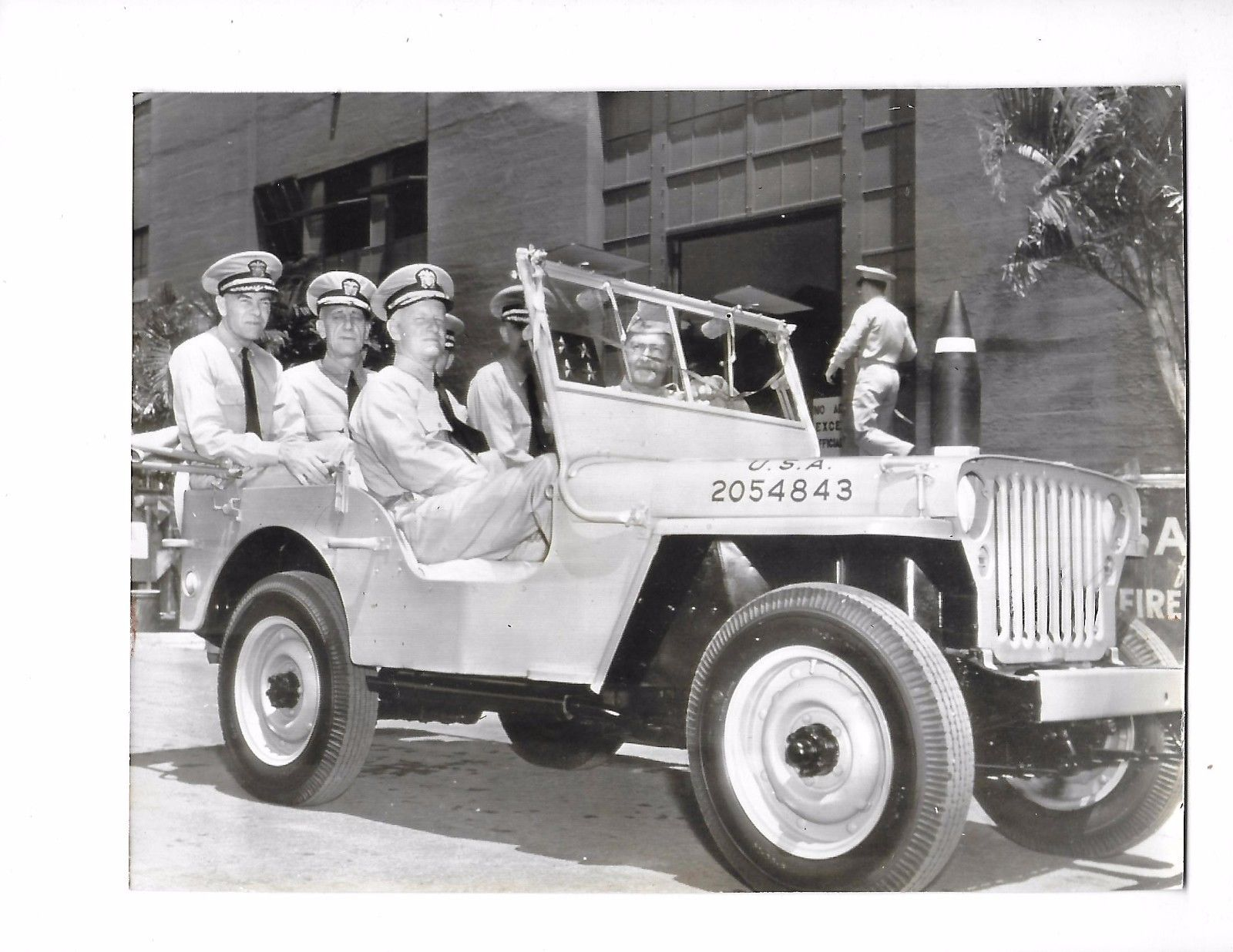 1942 Photo Doenting Army Giving Navy Jeep on eBay | eWillys