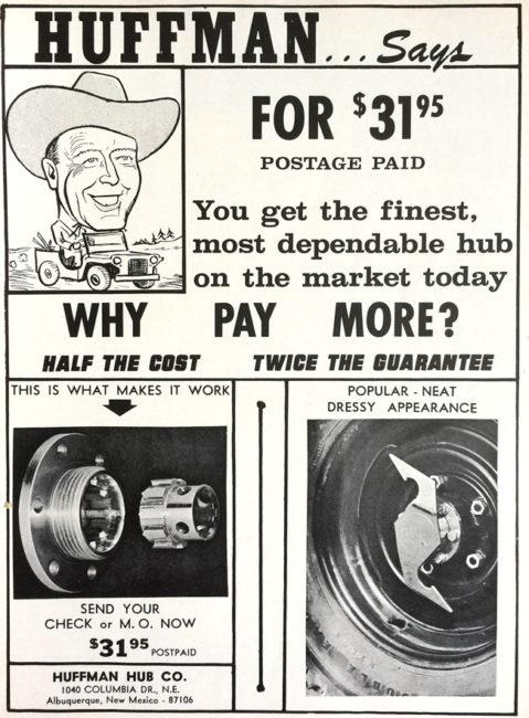 1965-01-fourwheeler-huffman-hub-ad