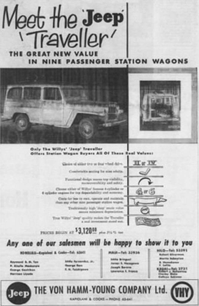 Willys ad - Honolulu, Hawaii  02
