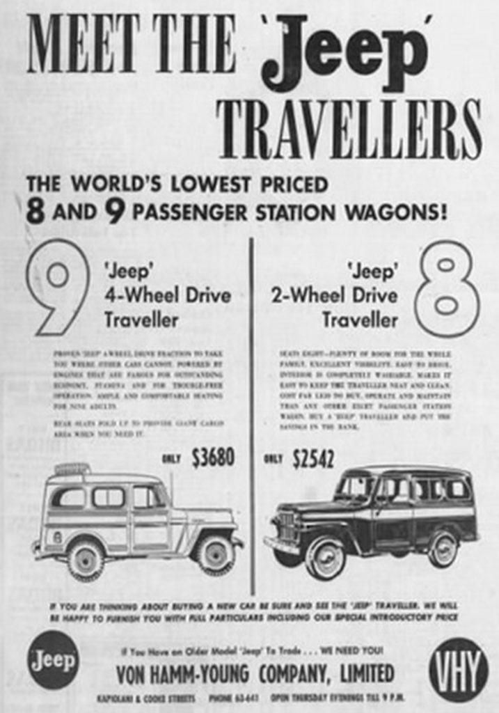Willys ad - Honolulu, Hawaii  05