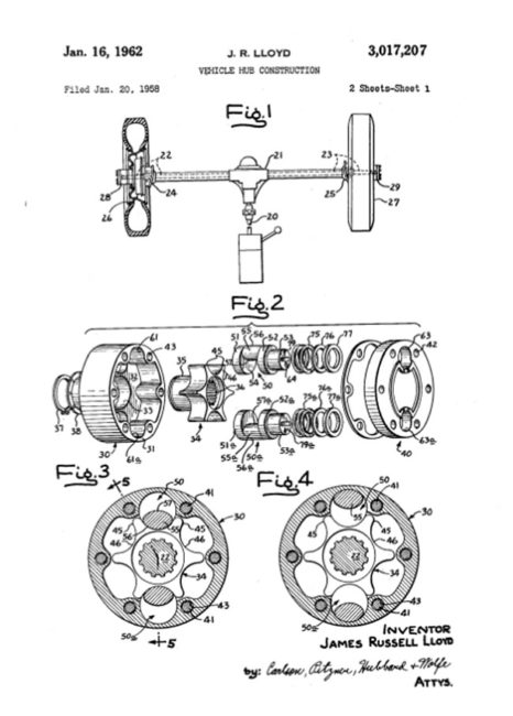 cutlass-power-lock-hub-patent