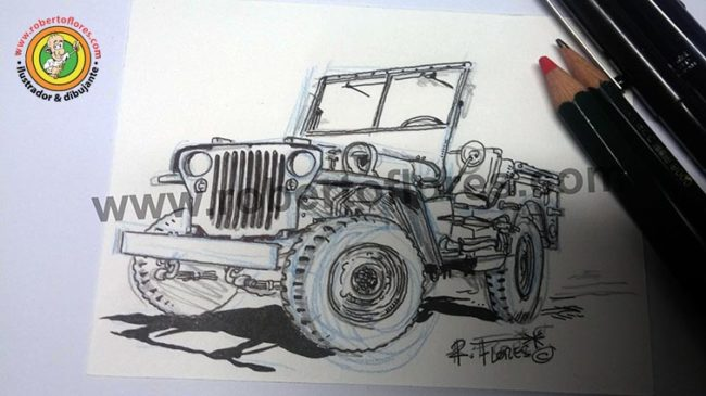 boceto_doodle_dibujo_jeep_willys_mb_503_1