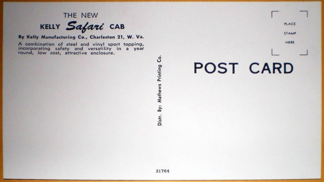 kelly-manufacturing-safari-top-postcard2