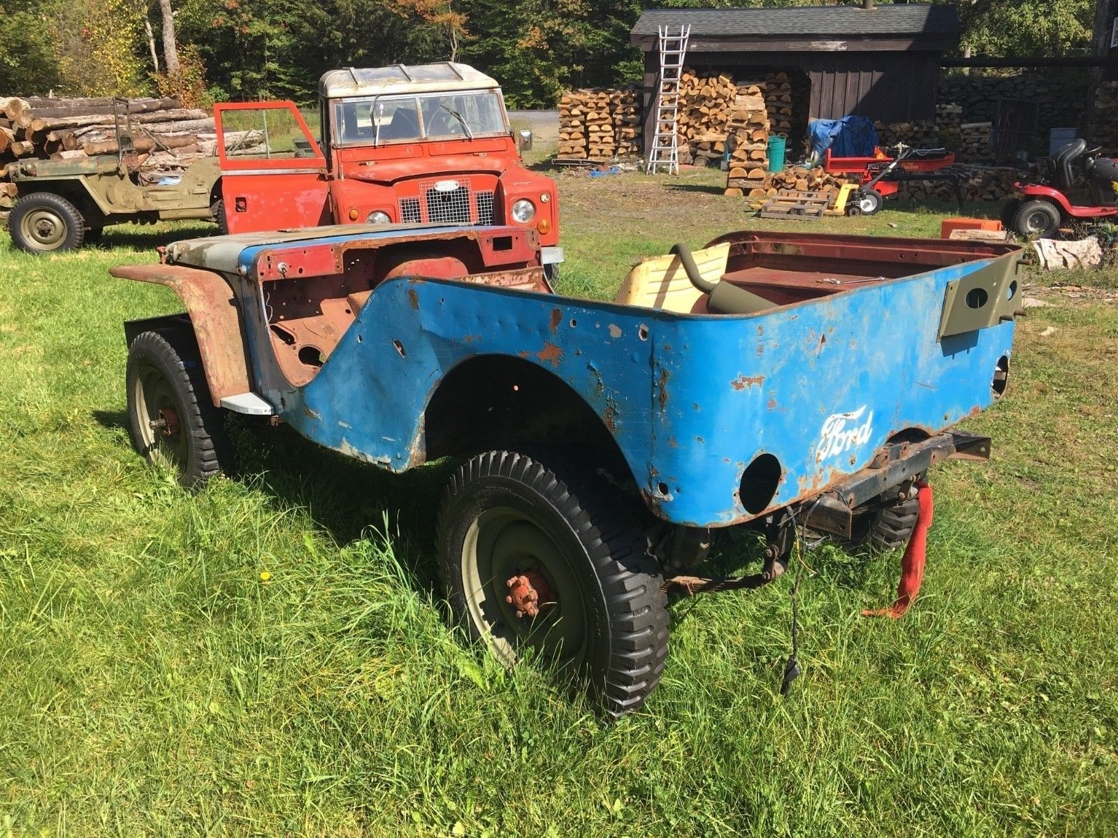 1941 Ford Gp Selkirk Ny Sold Ewillys Truck Front Fenders You Are Bidding On A Rare Prototype Jeep Known As The This Is Very Early First Series Although Incomplete It Comes With Many Parts
