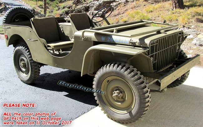 1941 Ford GP prototype, WW2 jeep for sale, jeep USA hood number W2018213, 1941 jeep with South Dakota title