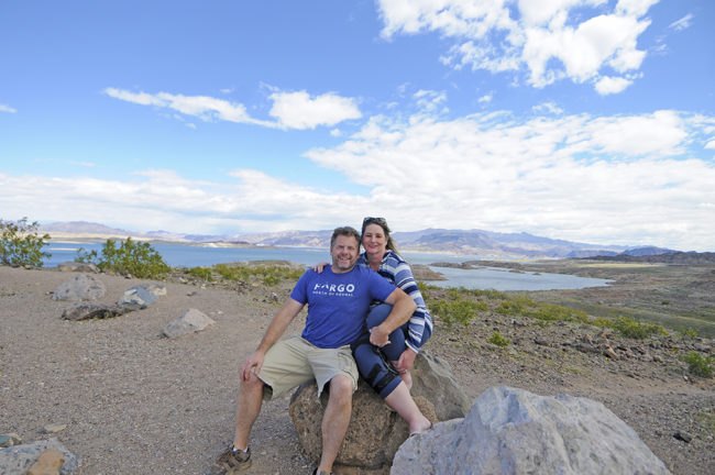 Ann and I at lake Mead in March on our way to the FC-Roundup.