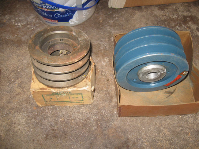 CJ 5 Trencher and Parts Drum Pulley Weight and shaft 019
