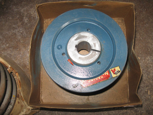 CJ 5 Trencher and Parts Drum Pulley Weight and shaft 021