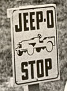 Jeep-O-Stop Sign