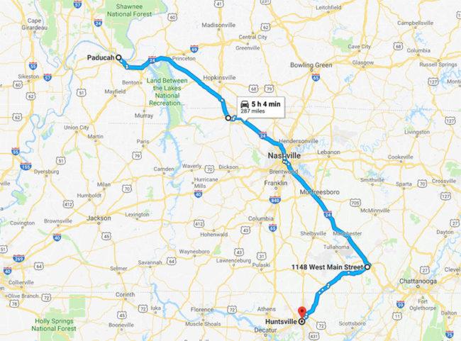 2018-05-04-paducah-huntsville-map